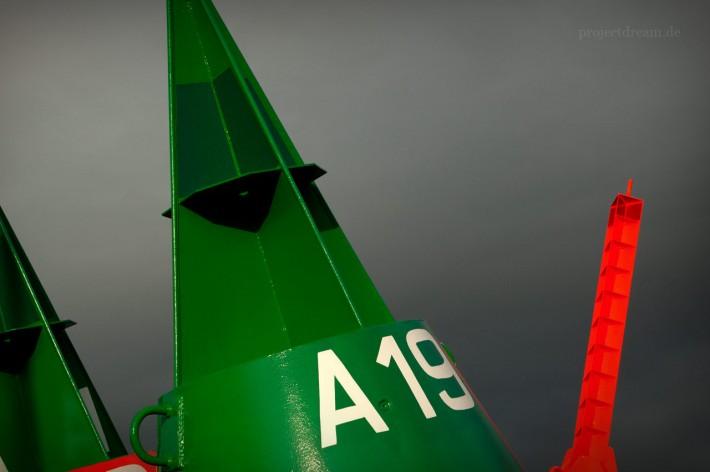 Grüne Boje auf dem Tonnenhof von Norderney