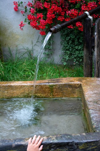 Quellwasser auf dem Ferienhof