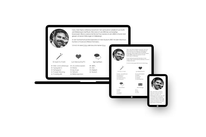 Responsive - Markus Gutermuth - Webdesigner