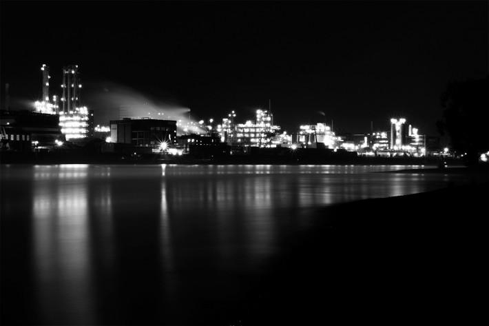 Blick auf Bayer von Köln Merkenich