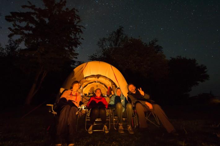 Bergfest unter Sternen - Selfi