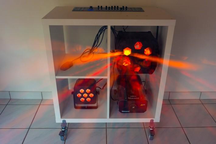 Discowagen Ausbaustufe 3 - LED-Flower - Nebel - LED PAR