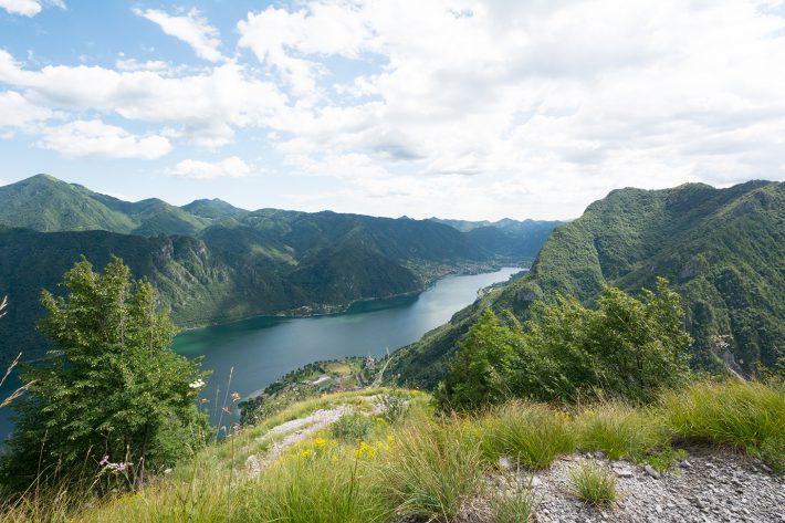 Ausblick vom Monte Censo auf den Idrosee