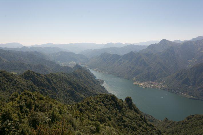 Ausblick auf den Idrosee vom Monte Stino