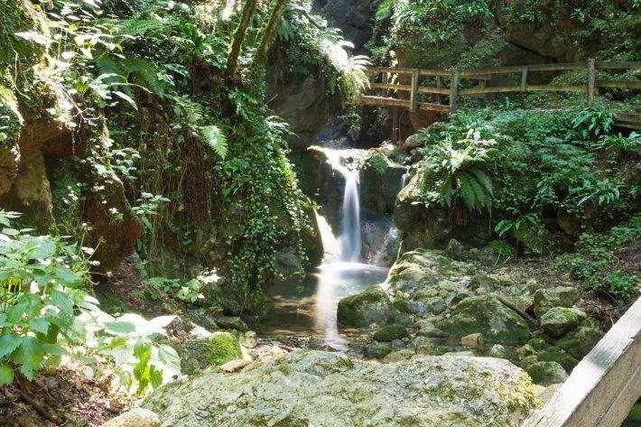 Wasserfälle am Klettersteig von Casto