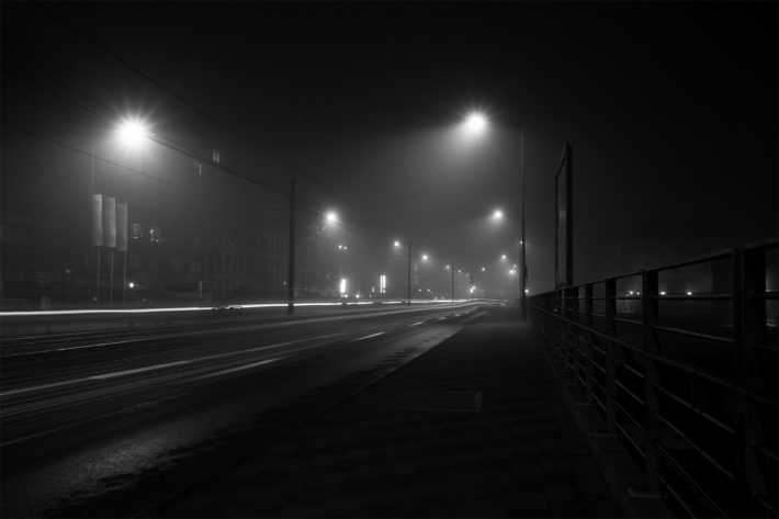 Nebel in Köln Deutz